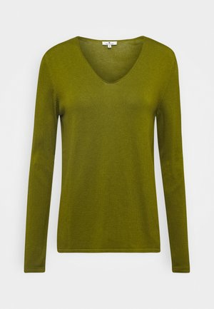 BASIC V NECK - Jumper - wood green