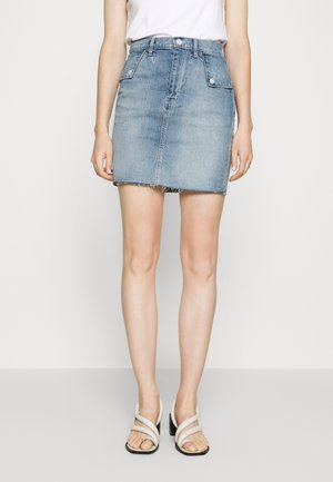 FOLD OVER SKIRT MALONE - Denim skirt - blue denim