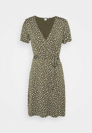 WRAP DRESS - Jersey dress - green