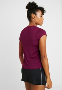 Nike Performance - DRY - Basic T-shirt - bordeaux/white - 2