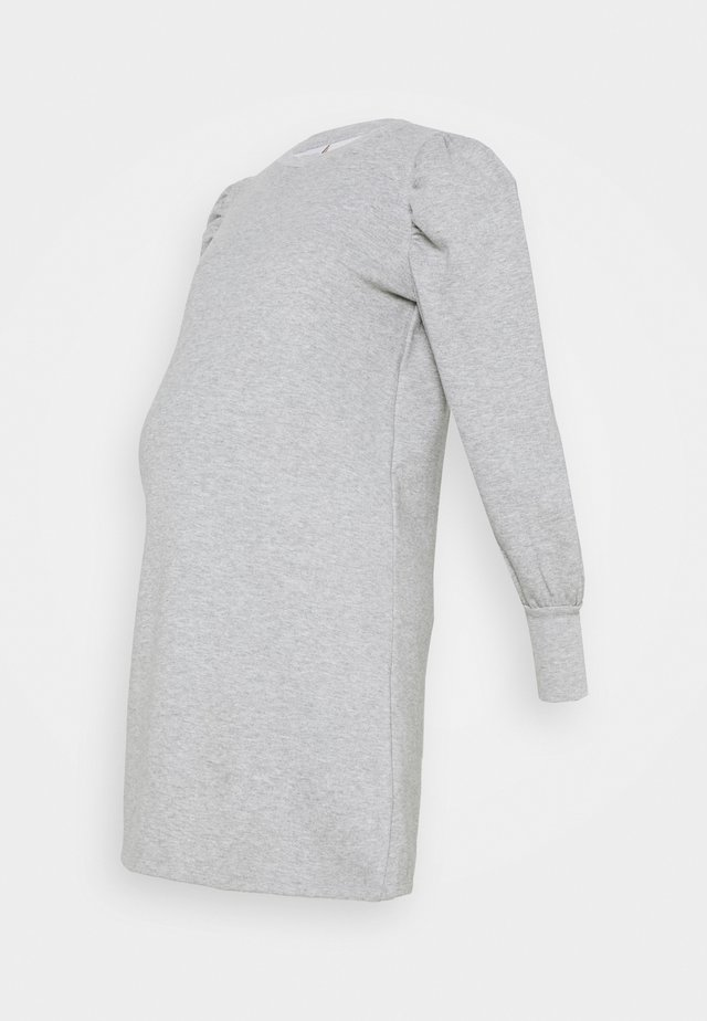 MLBRAELYN DRESS - Jerseykjole - light grey melange