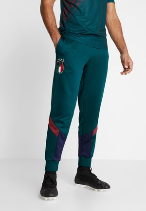 ITALIEN FIGC ICONIC MCS TRACK PANTS - Tracksuit bottoms - ponderosa pine/peacoat