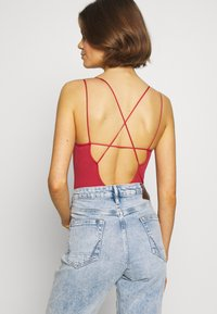 BDG Urban Outfitters - THONG STRAPPY BACK BODYSUIT - Top - mineral red - 2