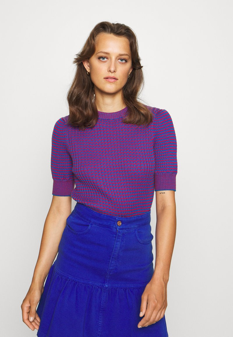 See by Chloé - Print T-shirt - blue/red