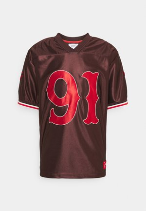 THE LOOT FOOTBALL JERSEY - Print T-shirt - brown