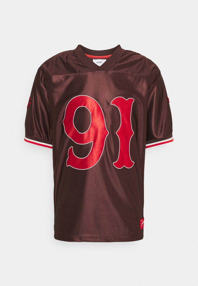 THE LOOT FOOTBALL JERSEY - T-shirt print - brown