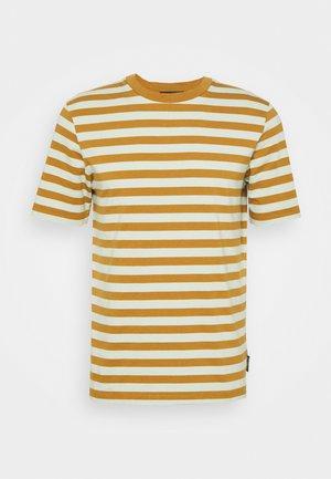 CLASSIC CREWNECK STRIPE TEE - Print T-shirt - light green/brown