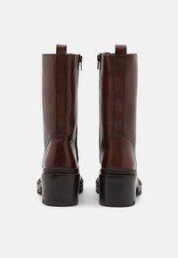 Zign - Šněrovací vysoké boty - dark brown - 3