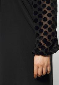 Evans - BLACK SPOT DRESS - Day dress - black - 5