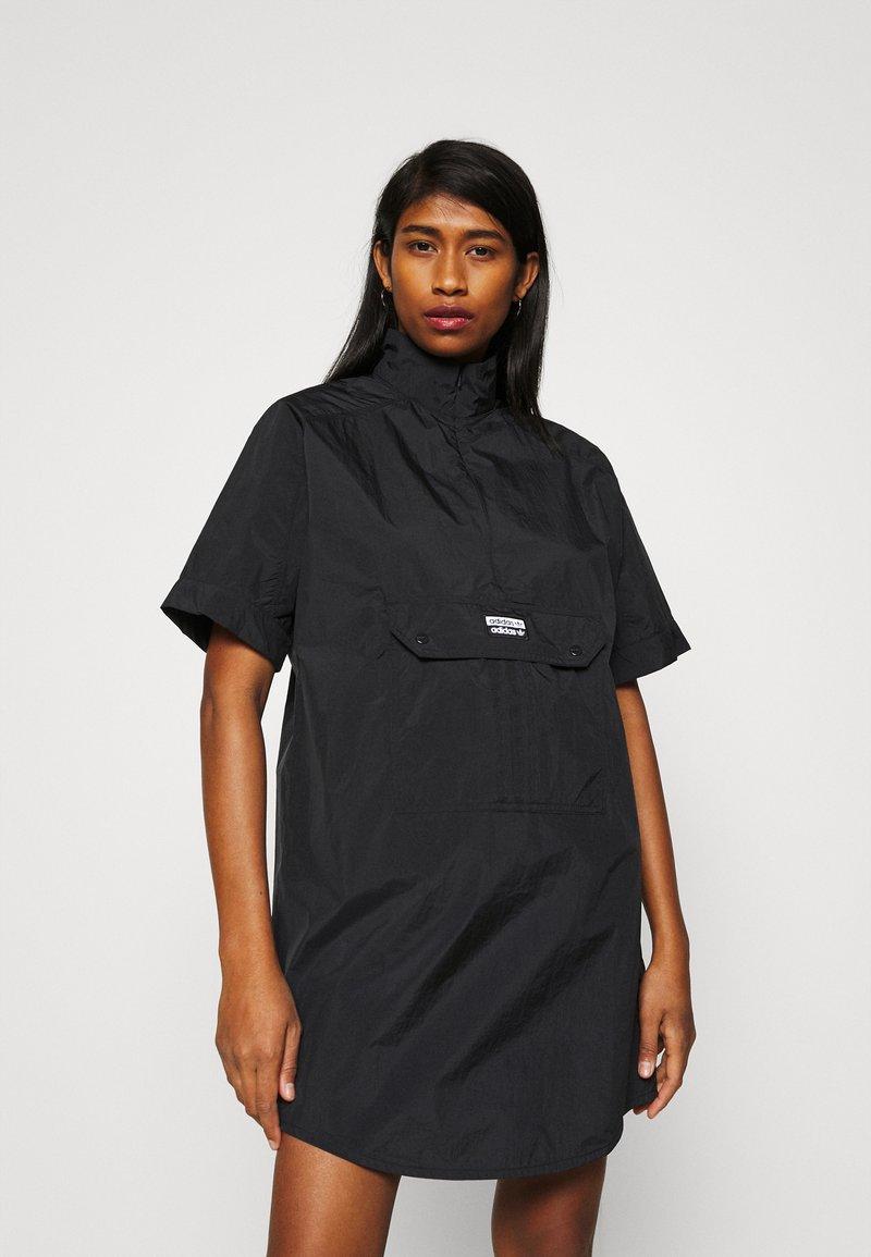 adidas Originals - DRESS - Shirt dress - black