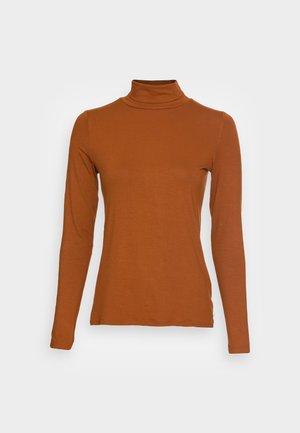 Long sleeved top - amber brown