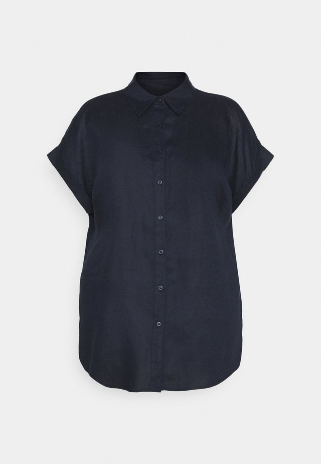 BROONO SHORT SLEEVE - Overhemdblouse - navy
