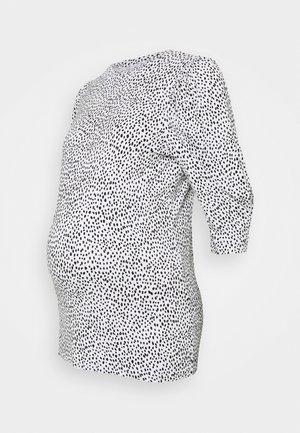 MLBEATRICE - Long sleeved top - snow white/black