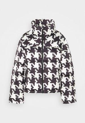 PUFFER JACKET - Winter jacket - black/white