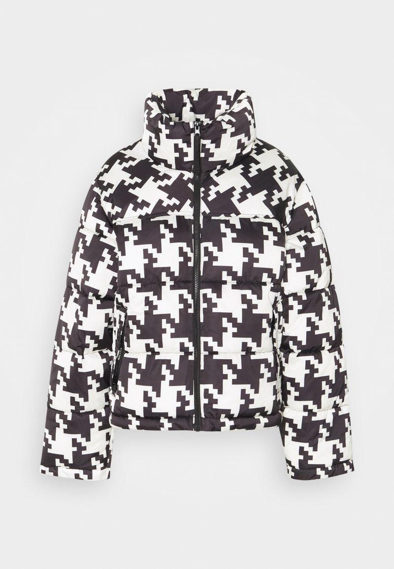 Gina Tricot - PUFFER JACKET - Winter jacket - black/white