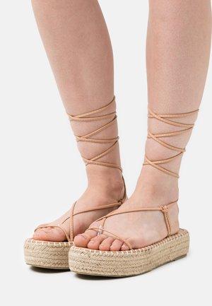 LARSEN - T-bar sandals - nude