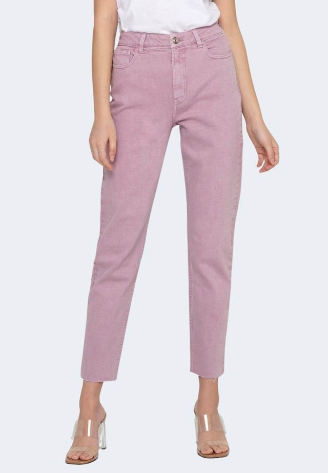 EMILY LIFE HW ST RAW CRPANK - Jeans slim fit - lilac