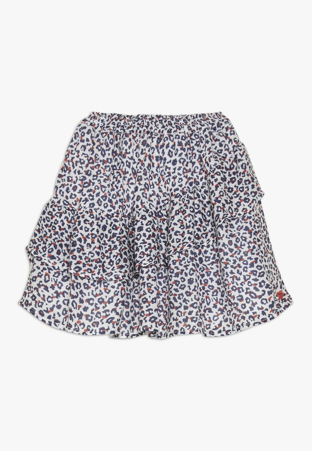 FLUIDSKIRT FLOUNCED PRINTED - Gonna a campana - white