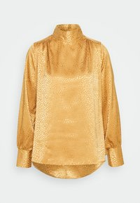 Closet - CLOSET HIGH NECK BLOUSE - Blouse - gold - 5