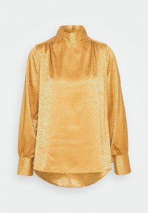 CLOSET HIGH NECK BLOUSE - Blouse - gold