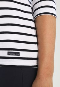Armor lux - CAP COZ MARINIÈRE - Long sleeved top - blanc/rich navy - 3