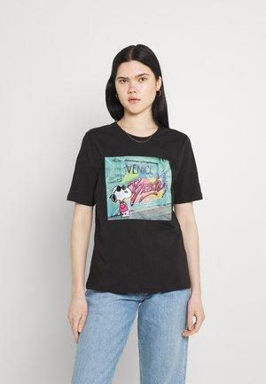 ONLPEANUTS LIFE BOXY VACAY - T-shirts med print - phantom/venice