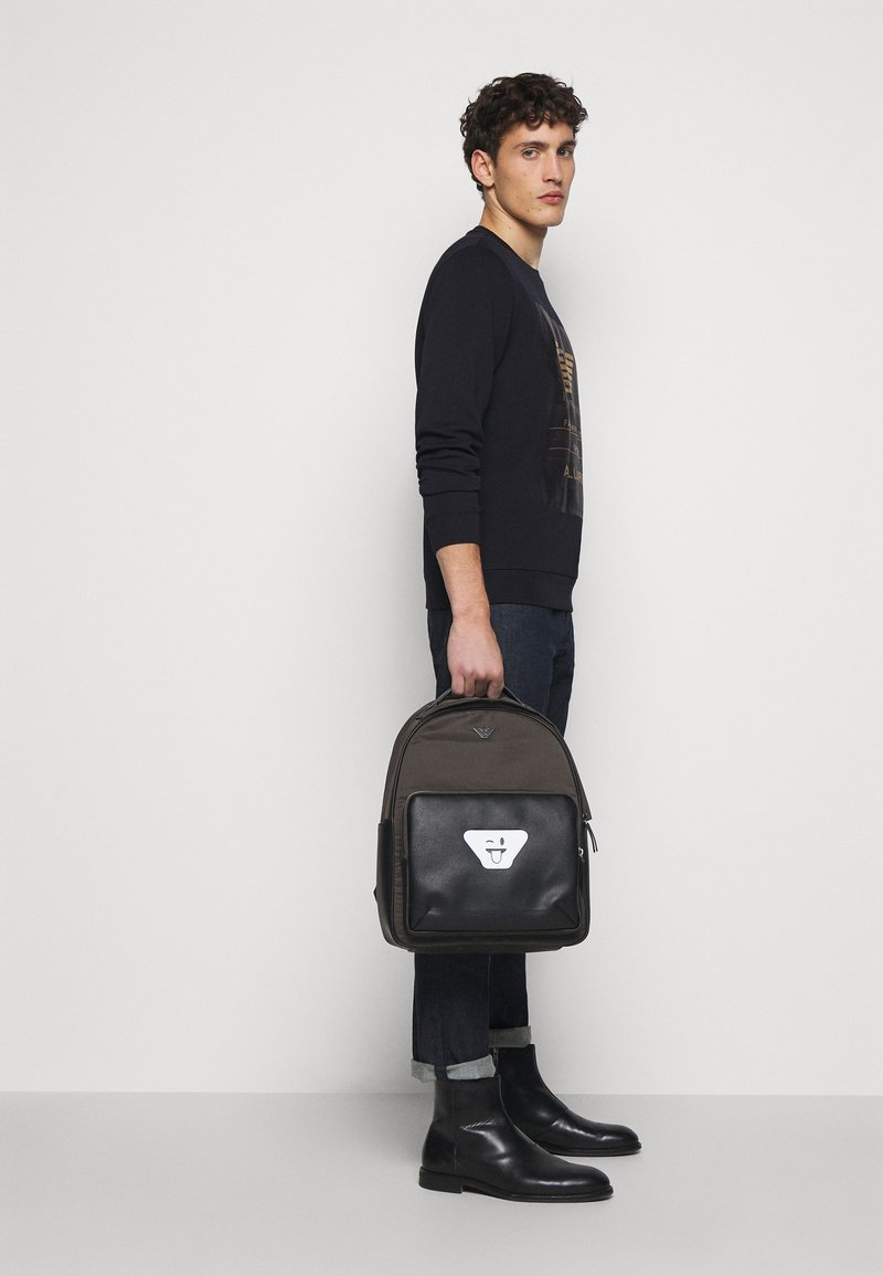 Emporio Armani - BACKPACK - Mochila - dark green/black