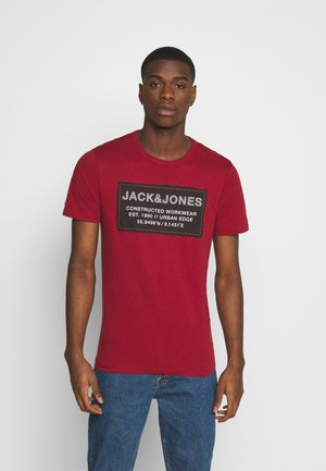JCOSTORY TEE CREW NECK  - Print T-shirt - sun dried tomato