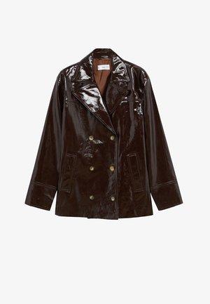 ALEX-I - Leather jacket - braun