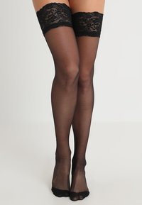 Bluebella - BACK SEAM LEG TOPPED STOCKINGS - Over-the-knee socks - black - 1