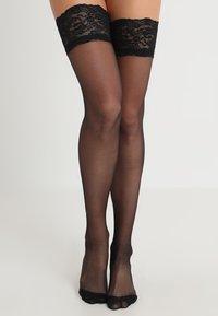 Bluebella - BACK SEAM LEG TOPPED STOCKINGS - Ylipolvensukat - black - 1