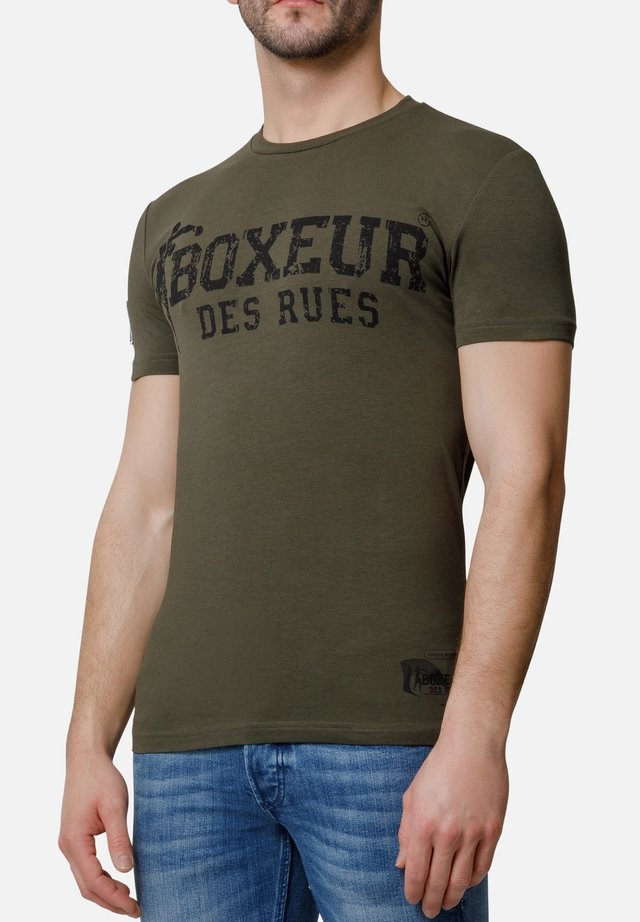 T-shirt con stampa - army