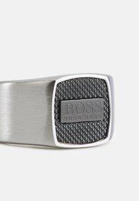 BOSS - SEAL - Anello - silver-coloured/black - 2
