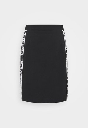 SKIRT LOGO TAPE - Jupe crayon - black