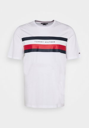 STRIPE TEE - Print T-shirt - white