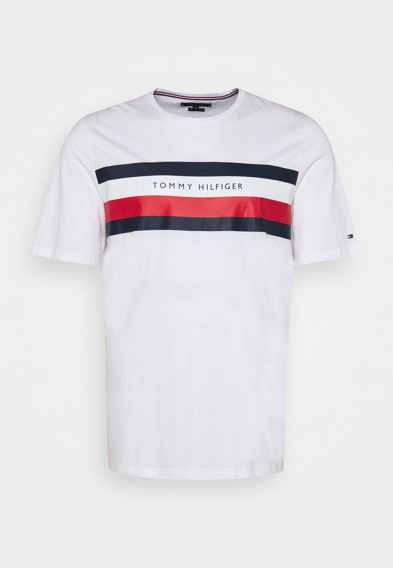 Tommy Hilfiger - STRIPE TEE - Print T-shirt - white