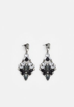 PCMARYAH EARRINGS - Earrings - gunmetal/clear/black/grey