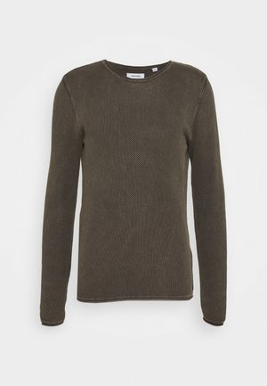 JJROLL CREW NECK - Trui - dusty olive