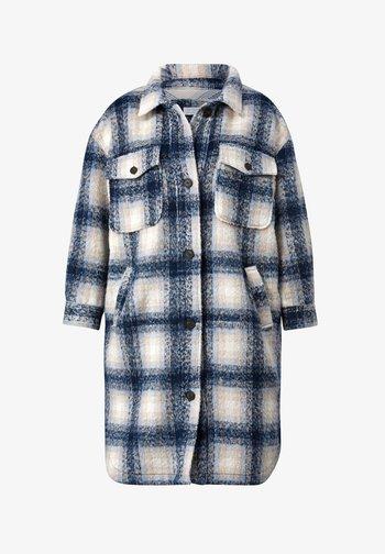 Short coat - beige,blau