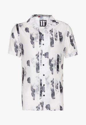 SHORT SLEEVE RESORT SHIRT - Shirt - white/grey