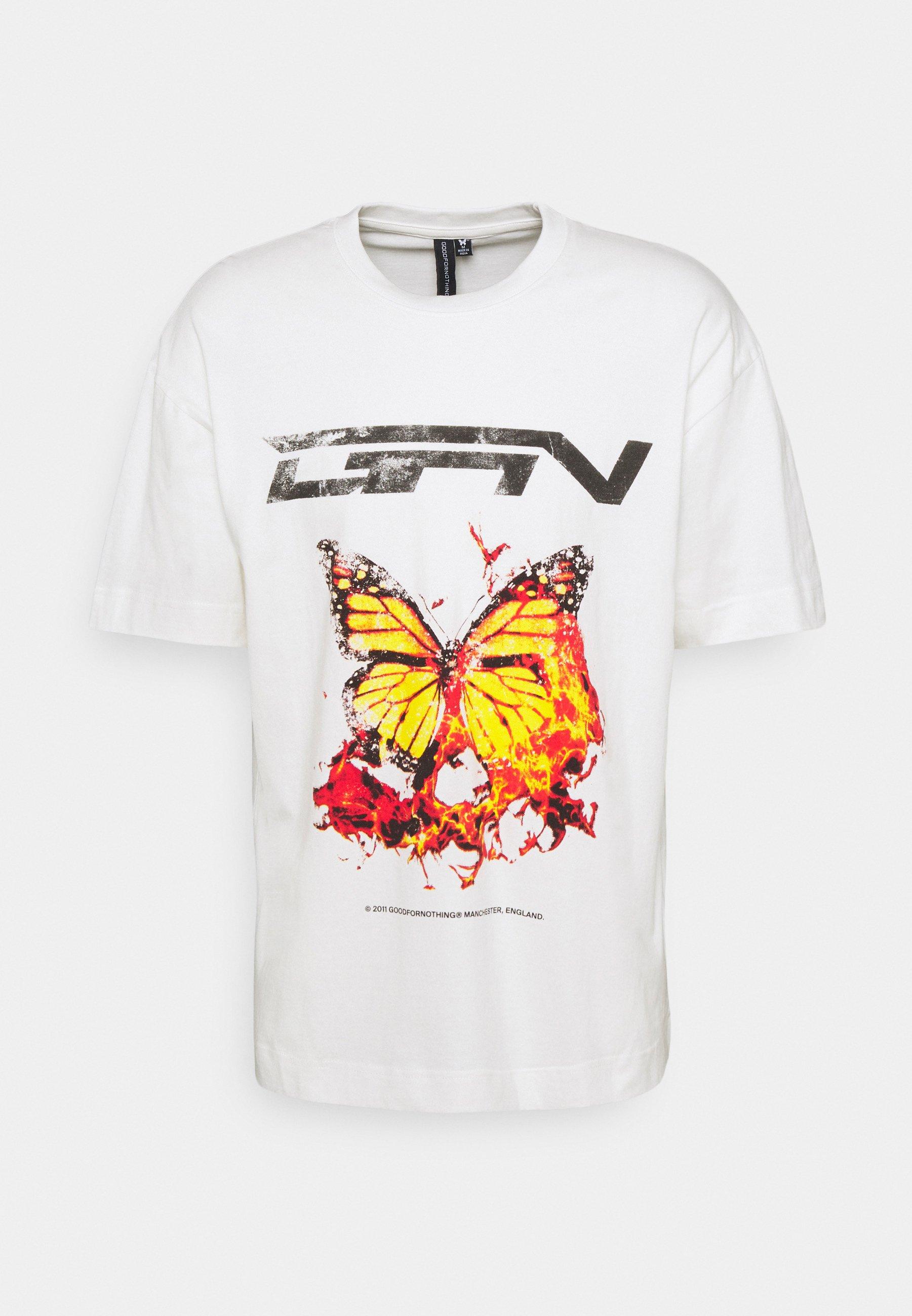 Men OVERSIZED BRANDED BUTTERFLY  UNISEX - Print T-shirt