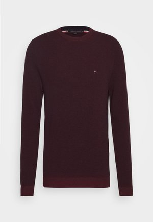 MOULINE STRUCTURE CREW NECK - Sweter - red