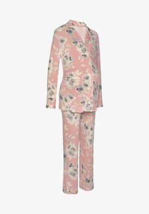 Pyžamová sada - rosa-geblümt
