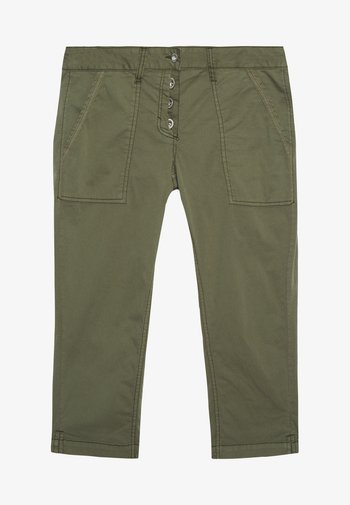 TAPERED RELAXED - Shorts - deep fresh olive green
