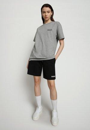 S-PATCH SS - Basic T-shirt - medium grey melange