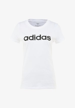 ESSENTIALS SPORTS SLIM SHORT SLEEVE TEE - T-shirt imprimé - white/black