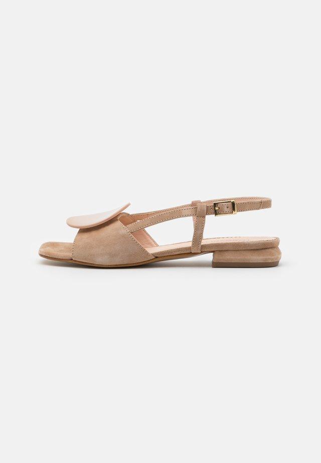 ONICE - Sandaalit nilkkaremmillä - grigio talpa