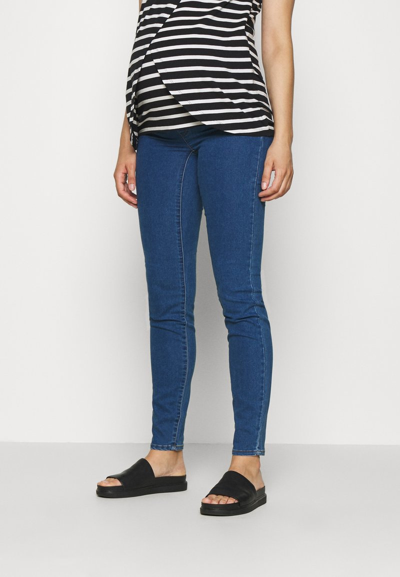 MAMALICIOUS - MLZIBO SLIM - Jeggings - medium blue denim
