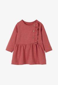 Vertbaudet - Day dress - dark pink - 0