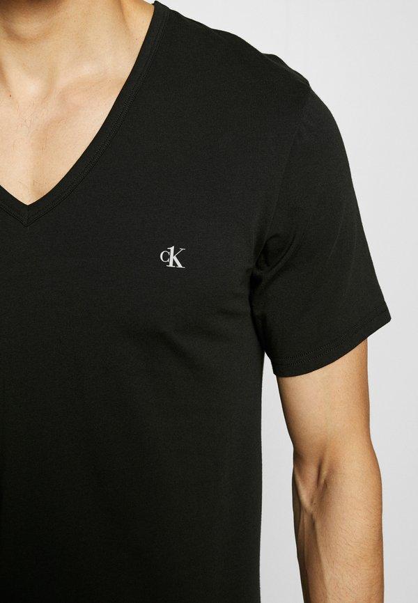 Calvin Klein Underwear ONE NECK 2 PACK - Podkoszulki - black/czarny Odzież Męska IDUM